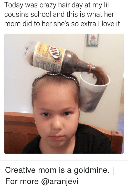 today was crazy hair day at my lil cousins school 14404704 ✅ 25 best memes about crazy hair crazy hair memes