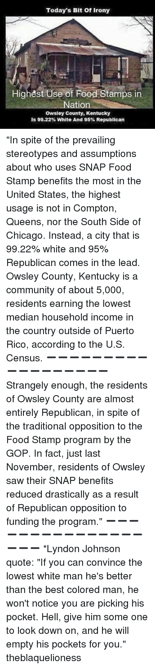 Memes Food Stamps And Puerto Rico Todays Bit Of Irony Highest Use