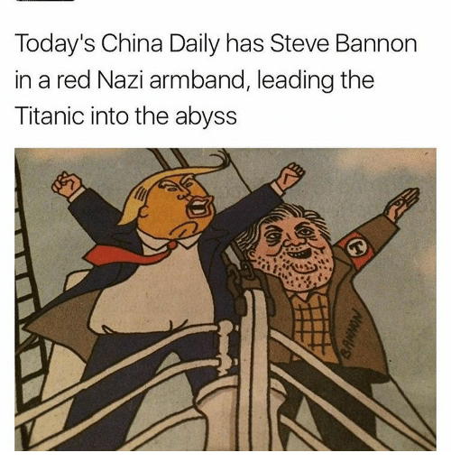 Today's China Daily Has Steve Bannon in a Red Nazi Armband