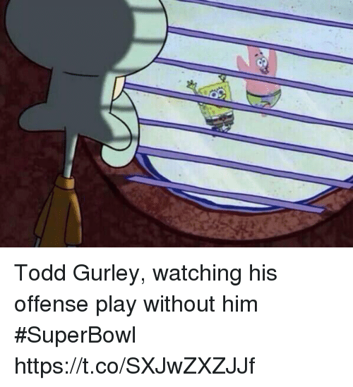 Sports, Superbowl, and Todd Gurley: Todd Gurley, watching his offense play without him #SuperBowl https://t.co/SXJwZXZJJf