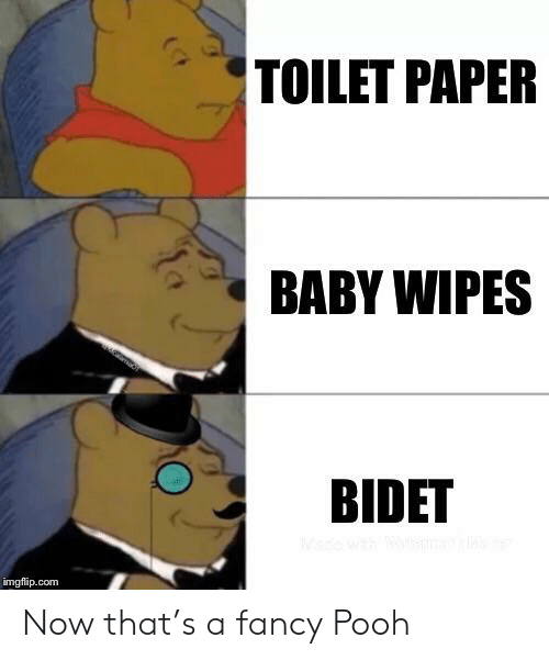 Astounding Toilet Paper Baby Wipes Bidet Imgflipcom Now Thats A Fancy Uwap Interior Chair Design Uwaporg
