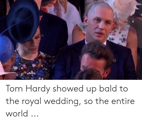 Tom Hardy Royal Wedding.Tom Hardy Showed Up Bald To The Royal Wedding So The Entire World