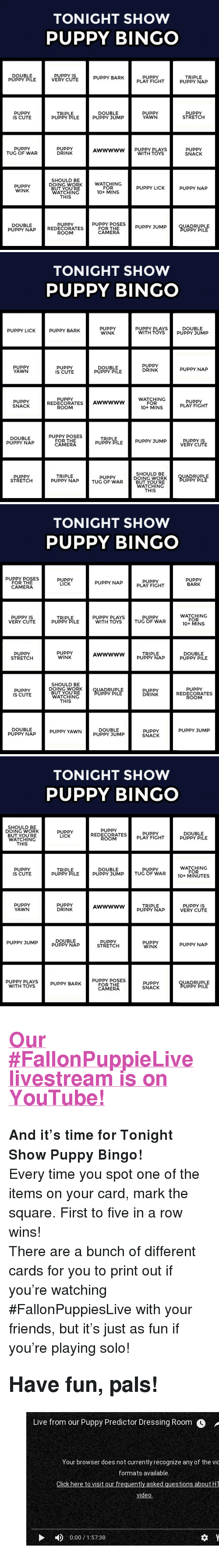 """Cute, Friends, and Target: TONIGHT SHOW  PUPPY BINGO  DOUBLE  PUPPY PILE  PUPPY IS  VERY CUTE  PUPPY BARK  PUPPY  PLAY FIGHT  TRIPLE  PUPPY NAP  PUPPY  IS CUTE  TRIPLE  PUPPY PILE  DOUBLE  PUPPY JUMP  PUPPY  YAWN  PUPPY  STRETCH  PUPPY  TUG OF WAR  PUPPY  DRINK  Awwwww PUPPY PLAYS  WITH TOYS  PUPPY  SNACK  SHOULD BE  DOING WORK  BUT YOU'RE  WATCHING  THIS  WATCHING  FOR  10+ MINS  PUPPY  WINK  PUPPY LICK  PUPPY NAP  PUPPY POSES  FOR THE  CAMERA  PUPPY  DOUBLE  PUPPY NAP REDECORATES  UADRUPLE  UPPY PILE  ROOM   TONIGHT SHOW  PUPPY BINGO  PUPPY  WINK  PUPPY LICK  PUPPY BARK  PUPPY PLAYS  DOUBLE  WITH TOYS PUPPY JUMP  PUPPY  YAWN  PUPPY  IS CUTE  DOUBLE  PUPPY PILE  PUPPY  DRINK  PUPPY NAP  WATCHING  FOR  10+ MINS  PUPPY  PUPPY  SNACK  REDECORATESAWwwww  PUPPY  PLAY FIGHT  ROOM  DOUBLE  PUPPY NAP  PUPPY POSES  FOR THE  CAMERA  TRIPLE  PUPPY PILE PUPPY JUMP  PUPPY IS  VERY CUTE  SHOULD BE  DOING WORK  BUT YOU'RE  WATCHING  THIS  PUPPY  STRETCH  TRIPLE  PUPPY NAP  UADRUPLE  UPPY PILE  TUG OF WAR   TONIGHT SHOW  PUPPY BINGO  PUPPY POSES  FOR THE  CAMERA  PUPPY  LICK  PUPPY  PLAY FIGHT  PUPPY  BARK  PUPPY NAP  PUPPY IS  VERY CUTE  WATCHING  FOR  10+ MINS  PUPPY PLAYS  PUPPY  TRIPLE  PUPPY PILE  WITH TOYS TUG OF WAR  PUPPY  STRETCH  PUPPY  WINK  TRIPLE  PUPPY NAP  DOUBLE  PUPPY PILE  AWwwww  SHOULD BE  DOING WORK  BUT YOU'RE  WATCHING  THIS  PUPPY  REDECORATES  ROOM  PUPPY  IS CUTE  UADRUPLE  UPPY PILE  PUPPY  DRINK  DOUBLE  PUPPY SUMP  DOUBLE  PUPPN^P PUPPY YAWN  PUPPY JUMP  PUPPY  SNACK   TONIGHT SHOW  PUPPY BINGO  SHOULD BE  DOING WORK  BUT YOU'RE  WATCHING  THIS  PUPPY  REDECORATES  ROOM  PUPPY  LICK  PUPPY  PLAY FIGHT  DOUBLE  PUPPY PILE  PUPPY  IS CUTE  TRIPLE  PUPPY PILE  DOUBLE  PUPPY JUMP  PUPPY  TUG OF WAR  WATCHING  FOR  PUPPY  YAWN  PUPPY  DRINK  TRIPLE  PUPPY NAP  PUPPY IS  VERY CUTE  DOUBLE  PUPPY NAP  PUPPY JUMP  PUPPY  WINK  STRETCH  PUPPY NAP  WITH TOYSPUPPY BARKORTO ES  FOR THE  CAMERA  PUPPY  SNACK  UADRUPLE  UPPY PILE <h2><b><a href=""""https://youtu.be/p2I"""