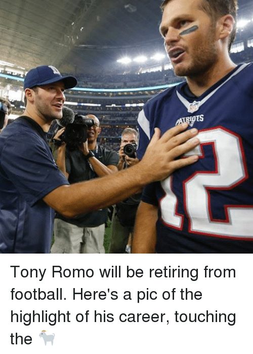 tony romo will be retiring from football heres a pic 18493695 ✅ 25 best memes about romo romo memes,Tony Romo Memes