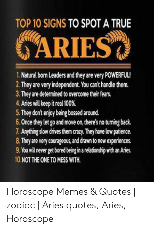 TOP 10 SIGNS TO SPOT a TRUE ARIES 1 Natural Born Leaders and ...