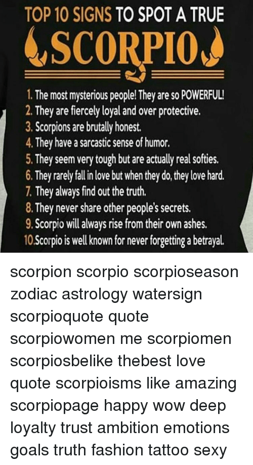 Ash, Fashion, and Memes: TOP 10 SIGNS TO SPOT A TRUE LSCORPIOJ 1