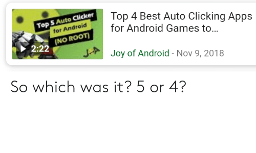 Top 4 Best Auto Clicking Apps Top S Auto Clicker or Android