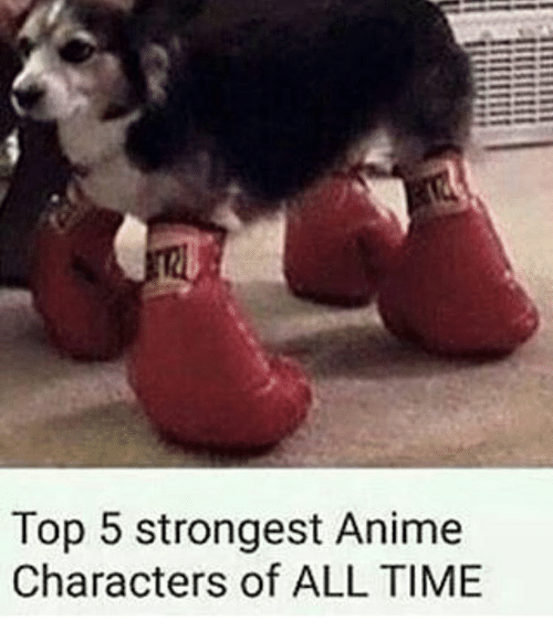 Memes, 🤖, and Anime Characters: Top 5 strongest Anime  Characters of ALL TIME