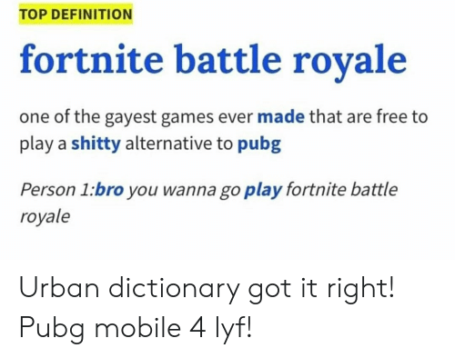 TOP DEFINITION Fortnite Battle Rovale One of the Gayest