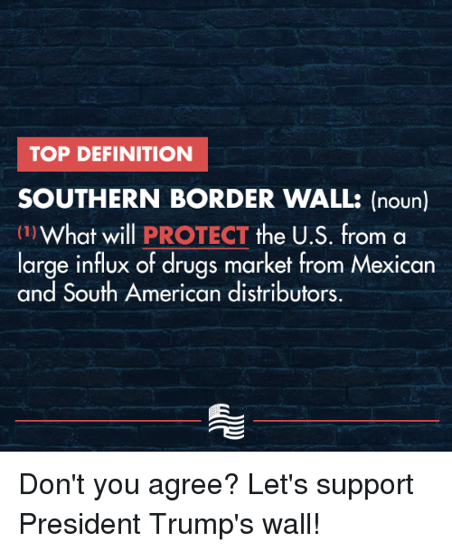 TOP DEFINITION SOUTHERN BORDER WALL Noun 1What Will PROTECT the US