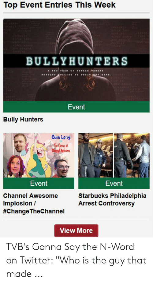 Top Event Entries This Week BULLYHUNTERS BEAT Event Bully