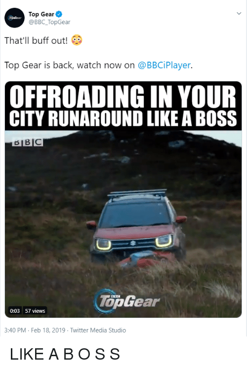 Top Gear That'll Buff Out! Top Gear Is Back Watch Now on
