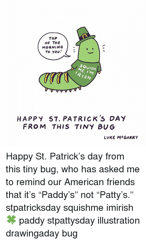 Top Of The Morning To You Squish Ish Happy St Patrick S Day From