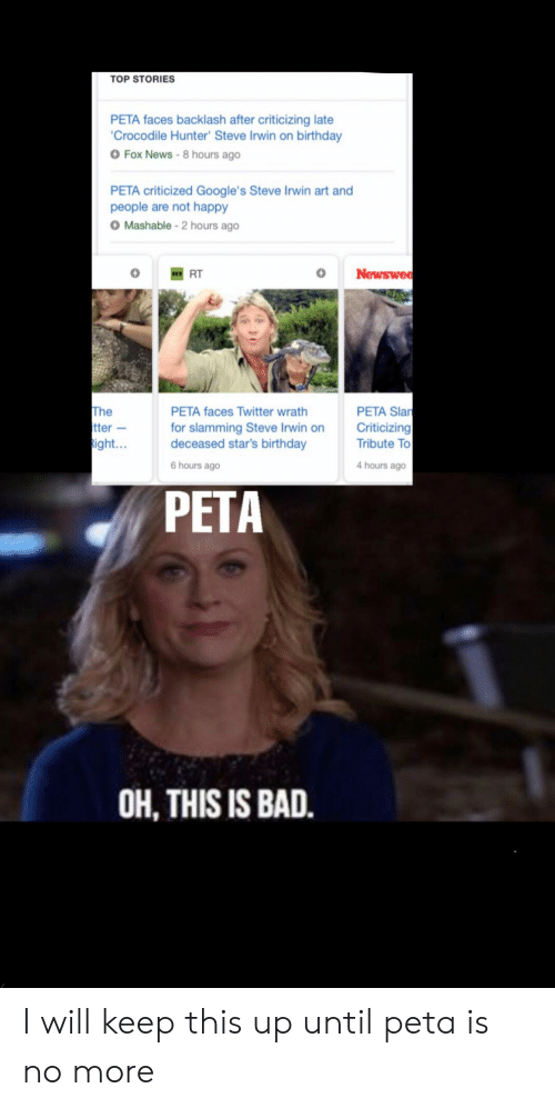TOP STORIES PETA Faces Backlash After Criticizing Late Crocodile