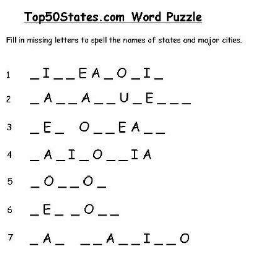 Memes Word And Top50States Puzzle Fill In Missing Letters
