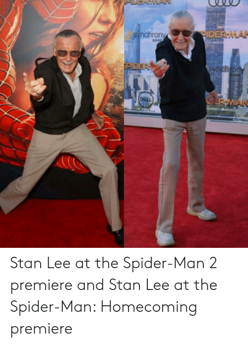 Spider, SpiderMan, and Stan: TORIDER-MA Stan Lee at the Spider-Man 2 premiere and Stan Lee at the Spider-Man: Homecoming premiere