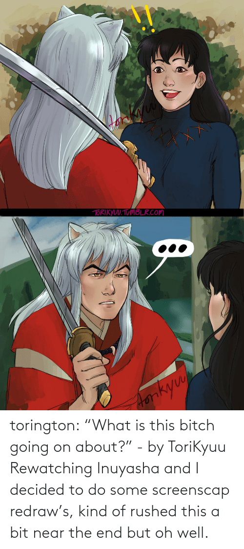 """Target, Tumblr, and Blog: torington: """"What is this bitch going on about?"""" - by ToriKyuu Rewatching Inuyasha and I decided to do some screenscap redraw's, kind of rushed this a bit near the end but oh well."""