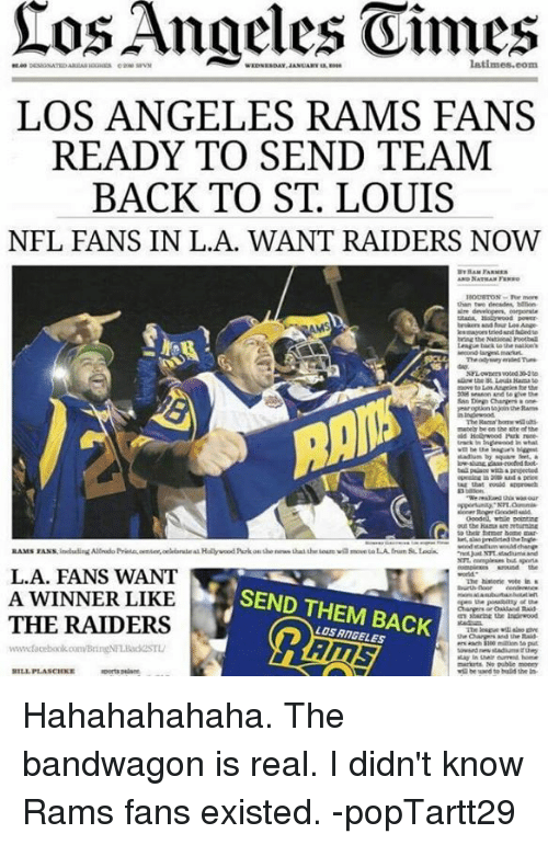tos angeles latimes com los angeles rams fans ready to send 10677787 tos angeles latimescom los angeles rams fans ready to send team