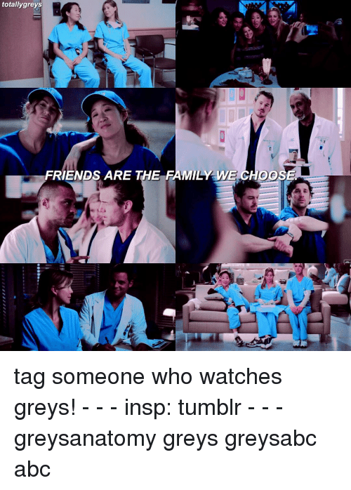 Totally Greys Friends Are The Family We Choese Tag Someone Who