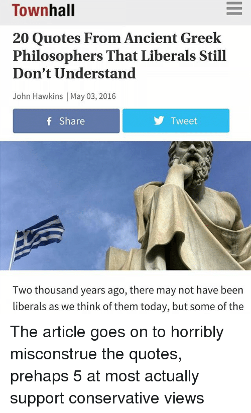 Greek Philosophers Quotes Simple Townhall 48 Quotes From Ancient Greek Philosophers That Liberals