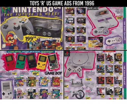 Toys R Us Game Ads From 1996 Intend Tie The Future Is Here Super