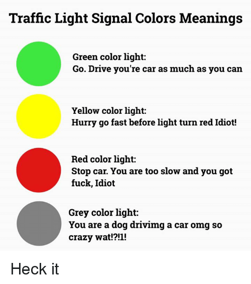 Traffic Light Signal Colors Meanings Green Color Light Go Drive