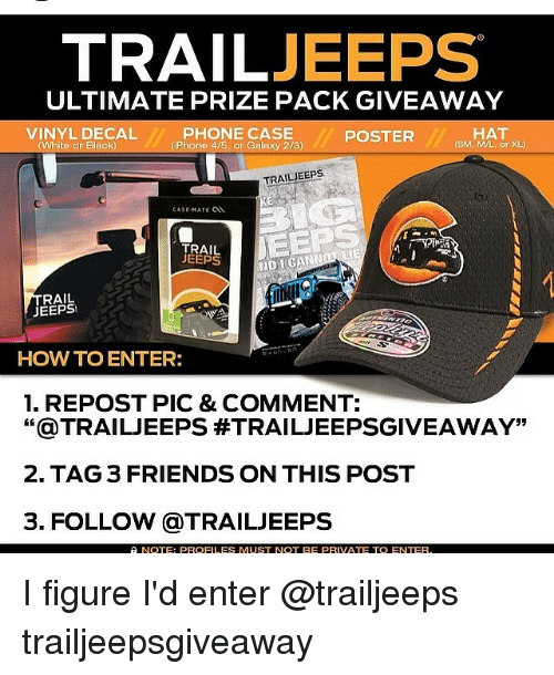 8245997dd7c TRAIL JEEPS ULTIMATE PRIZE PACK GIVEAWAY PHONE CASE VINYL DECAL HAT ...