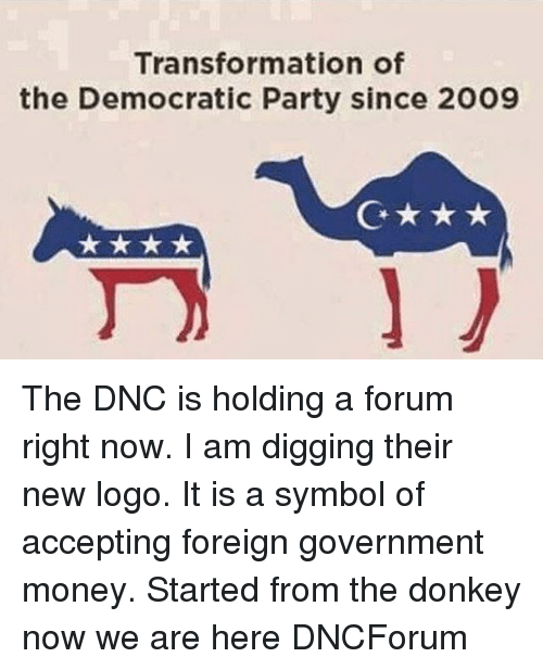 Transformation Of The Democratic Party Since 2009 G To The Dnc Is