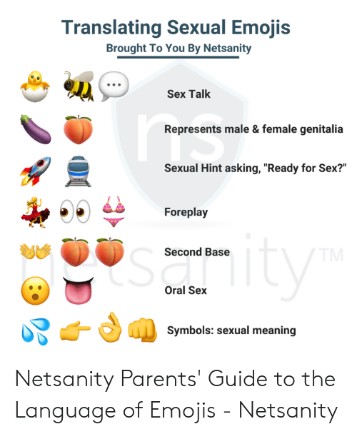 Translating Sexual Emojis Brought to You by Netsanity Sex