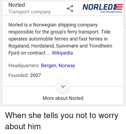 Transport Company NORLEDE Nor Led Norled Is a Norwegian