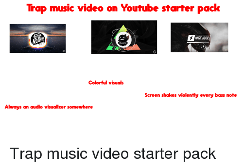 Trap Music Video on Youtube Starter Pack MAGIC MUSIC Colorful