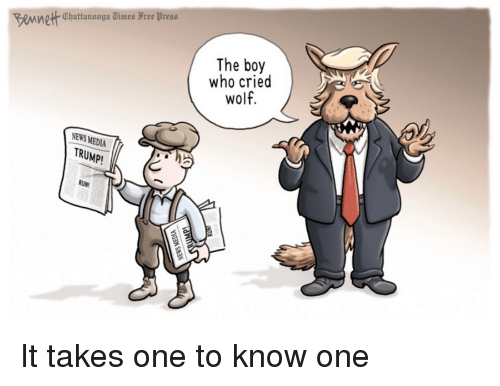 The media cried wolf for four years about Trump and