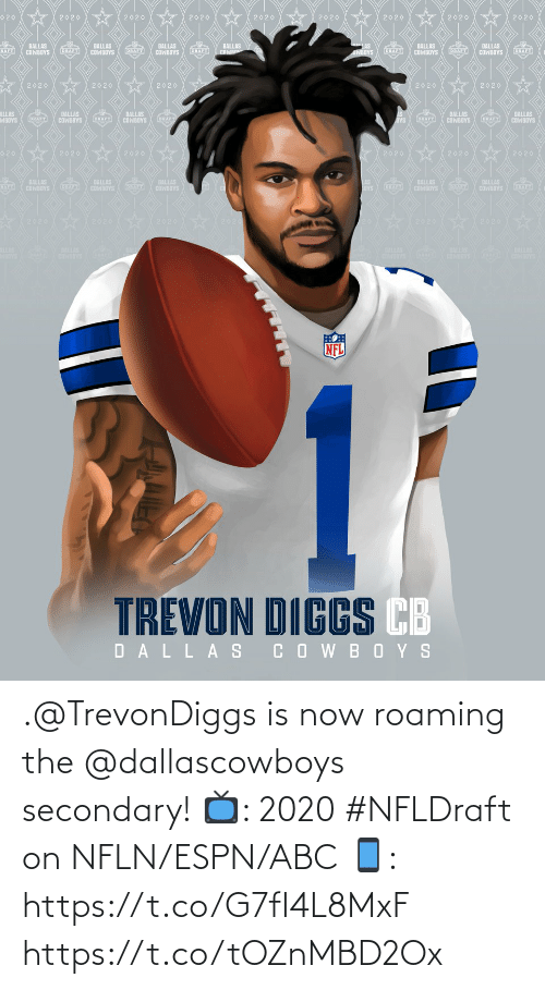 Abc, Espn, and Memes: .@TrevonDiggs is now roaming the @dallascowboys secondary!  📺: 2020 #NFLDraft on NFLN/ESPN/ABC 📱: https://t.co/G7fI4L8MxF https://t.co/tOZnMBD2Ox