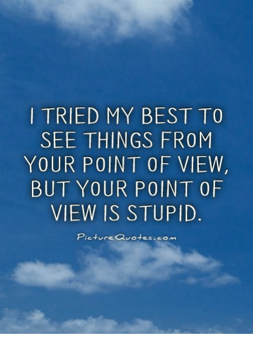 Tried My Best To See Things From Your Point Of View But Your Point