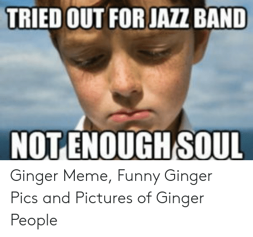 Tried Out For Jazz Band Notenough Soul Ginger Meme Funny Ginger