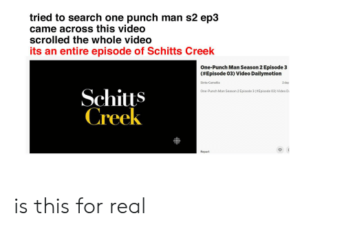 Tried to Search One Punch Man S2 Ep3 Came Across This Video Scrolled