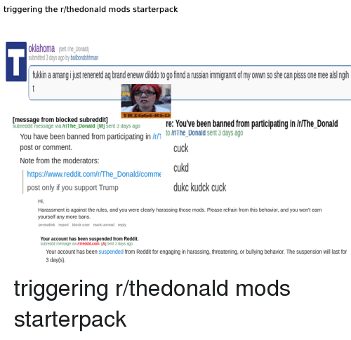 Triggering the Rlthedonald Mods Starterpack Oklahoma Serine Donald