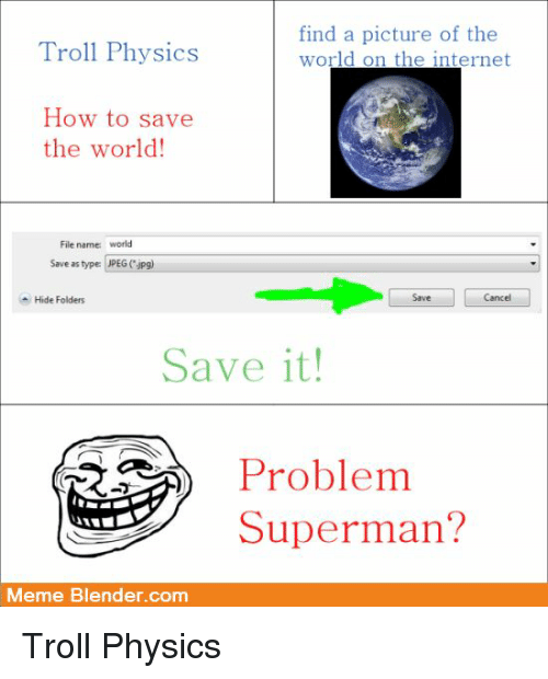 Troll Physics Find a Picture of the World on the Internet