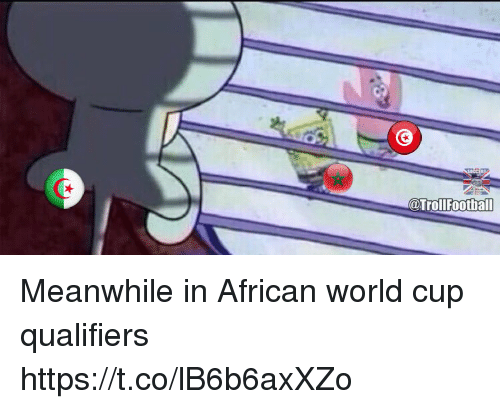 Memes, World Cup, and World: @TrollFootball Meanwhile in African world cup qualifiers https://t.co/lB6b6axXZo