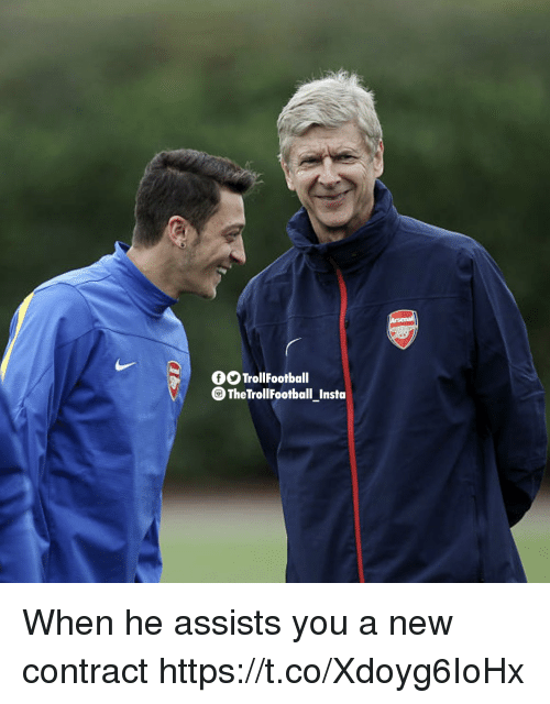 Memes, 🤖, and New: TrollFootball  The TrollFootball Insta When he assists you a new contract https://t.co/Xdoyg6IoHx