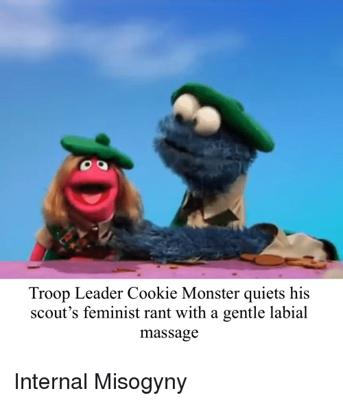 Troop Leader Cookie Monster Quiets His Scout S Feminist Rant