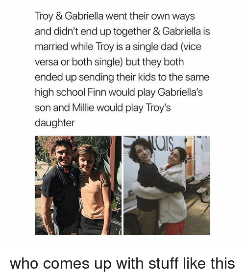 is gabriella and troy dating in real life