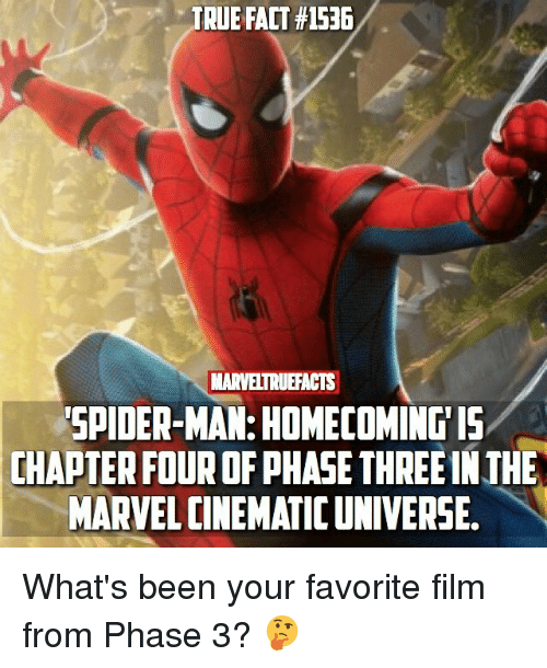 TRUE FACT #1536 MARVELTRUEFACTS SPIDER-MAN HOMECOMINGIS CHAPTER FOUR