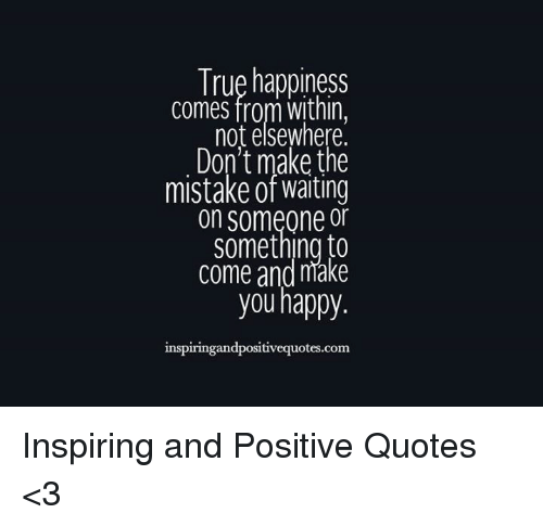 does happiness come from within