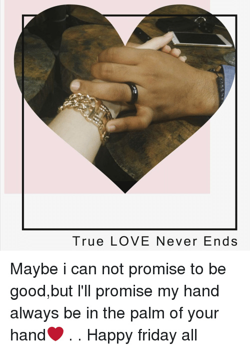True Love Never Ends Maybe I Can Not Promise To Be Goodbut Lll
