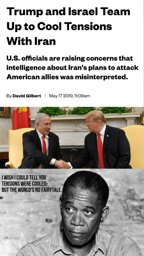 Trump and Lsrael Team Up to Cool Tensions With Iran US