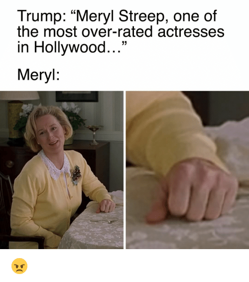 """Memes, Meryl Streep, and 🤖: Trump: """"Meryl Streep, one of  the most over-rated actresses  in Hollywood  33  Meryl 😠"""