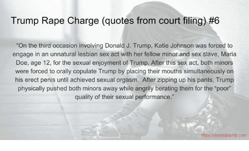 Rape Quotes Entrancing Trump Rape Charge Quotes From Court Filing 6 On The Third