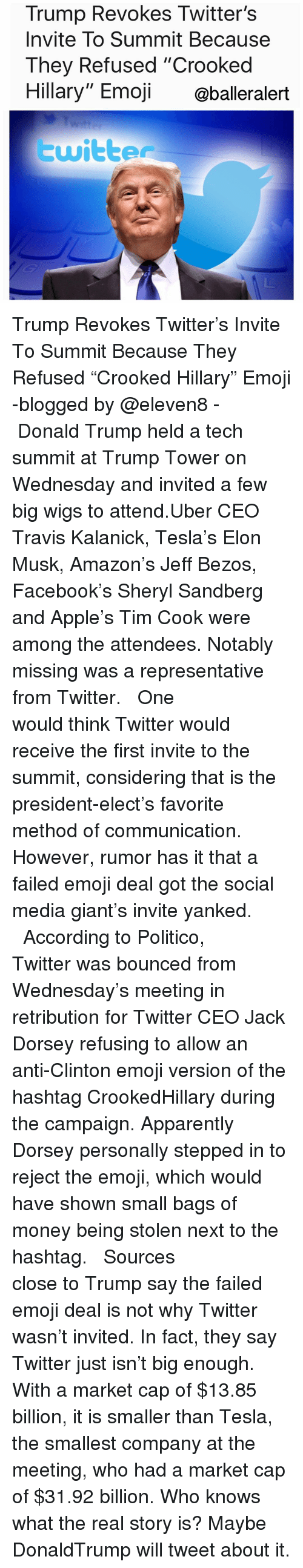 Thrilled by the response apple ceo tim cook said in a tweet that it - Amazon Apparently And Donald Trump Trump Revokes Twitter S Invite To Summit Because They