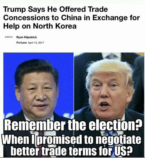 Trump Says He Offered Trade Concessions to China in ...